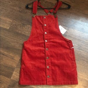 🍂RUST COLORED CORDUROY OVERALL DRESS 🍂